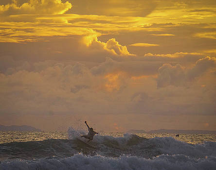 The Sunset Surfer by Paki O'Meara