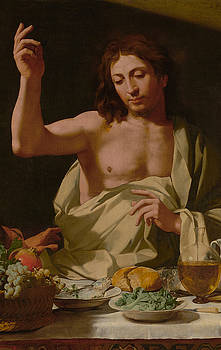 The Supper at Emmaus-Detail by Bartolomeo Cavarozzi