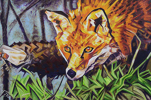 The Surreptitious Stalker - Fox by the Lake by Cameron Dixon