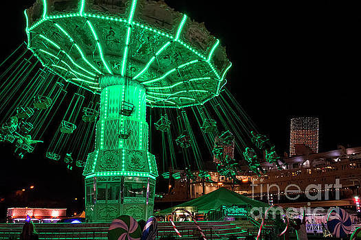 The Swings At Queen Mary's Chill by Eddie Yerkish