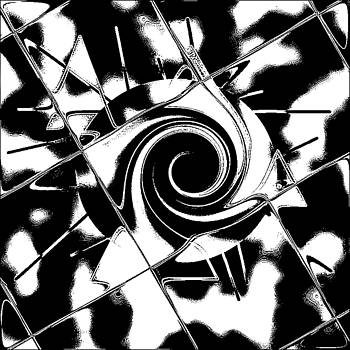 The Swirl in Black and White by Art Speakman