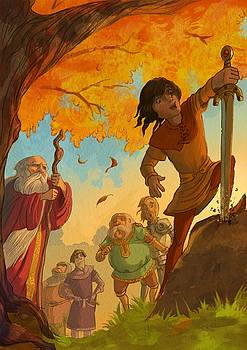 The sword in the stone by Andy Catling