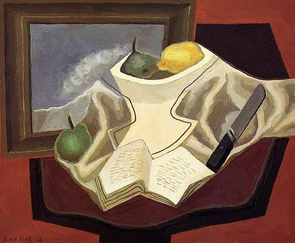 The Table In Front Of The Picture 1926 by Gris Juan