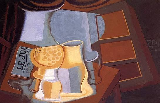 The Table In Front Of The Window 1921 by Gris Juan