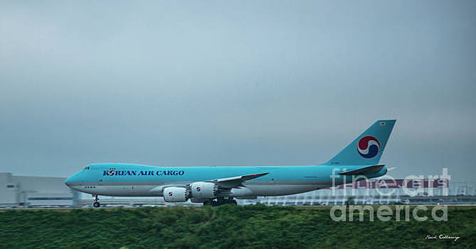 Reid Callaway - The Takeoff Korean Air Cargo 747 Airplane Art