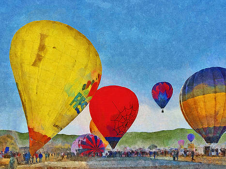 The Taos Mountain Balloon Rally 6 by Digital Photographic Arts