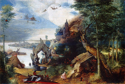 Follower of Pieter Bruegel the Elder - The Temptation of Saint Anthony