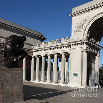 Wingsdomain Art and Photography - The Thinker at San Francisco Palace of The Legion of Honor 5D20960 square