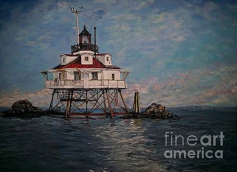 The Thomas Point Shoal Light by Katie Adkins