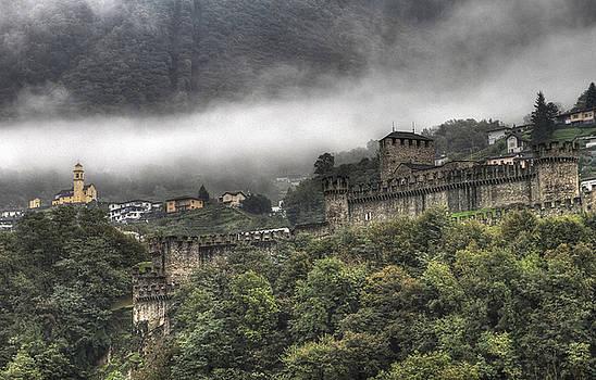 The medieval castle of Bellinzona by Arabesque Saraswathi