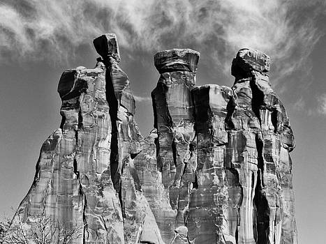 The Three Gossips in Black and White by Barkley Simpson