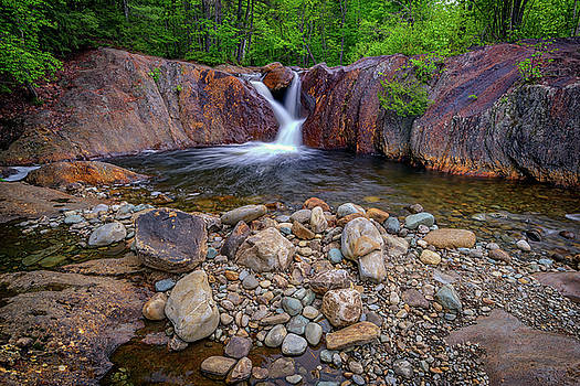 The Top of Smalls Falls by Rick Berk
