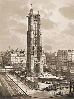 The Tower of Saint Jacques Paris. by Charles Soulier