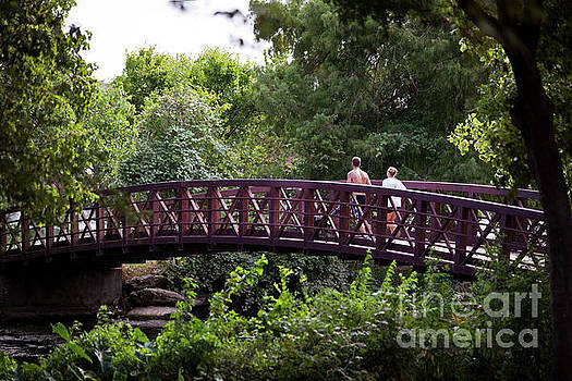 Herronstock Prints - The Town Lake Hike and Bike Trail offers runners a paradise of lush green trails along Lady Bird Lake in Austin Texas