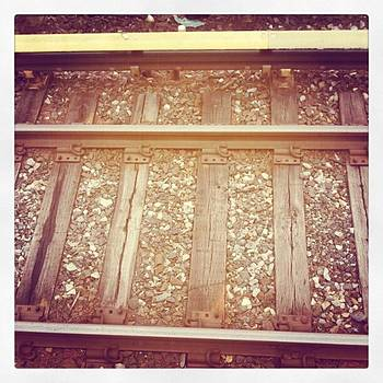 The Tracks Looks So Neat Through A Lens by Heather Tyndall