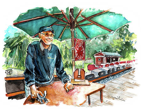The Train Conductor At Newby Hall by Miki De Goodaboom