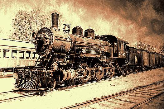 Susan Rissi Tregoning - The Train Yard in Sepia