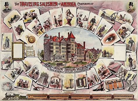 The traveling salesmen of America, advertising poster, 1895 by Vintage Printery