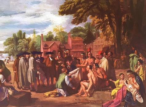 West Benjamin - The Treaty Of Penn With The Indians 1772