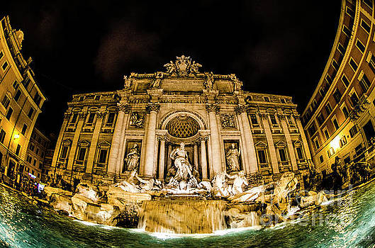 Julian Starks - The Trevi Fountain at Night