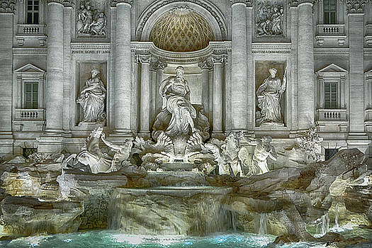 The Trevi Fountain Rome by Joachim G Pinkawa