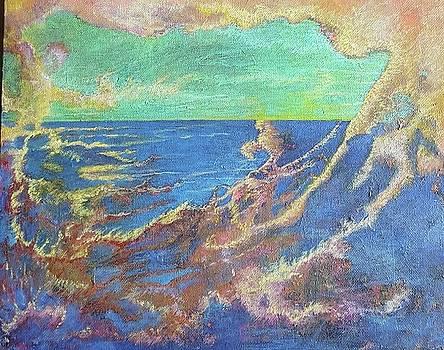 The turbulent sea by Cynthia Silverman