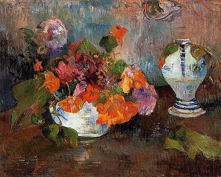 Gauguin - The Vase Of Nasturtiums