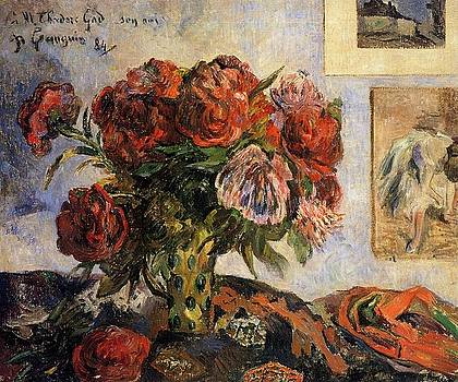 Gauguin - The Vase of Peonies