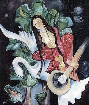 The veena player by Chitra Patnaik