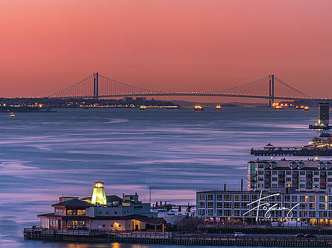 Francisco Gomez - The Verrazano Bridge at Sunrise