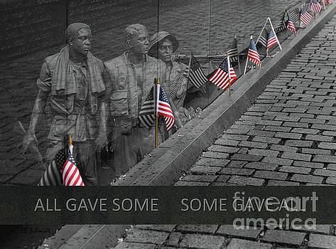 The Vietnam War Memorial by E B Schmidt