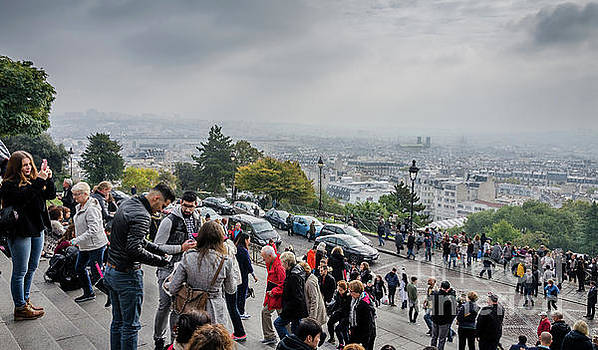 The view from Montmartre steps, Paris France by Perry Rodriguez