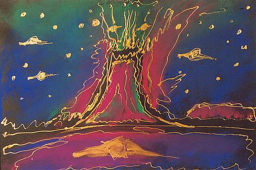 The volcano on Mars by Morgana Blackcat