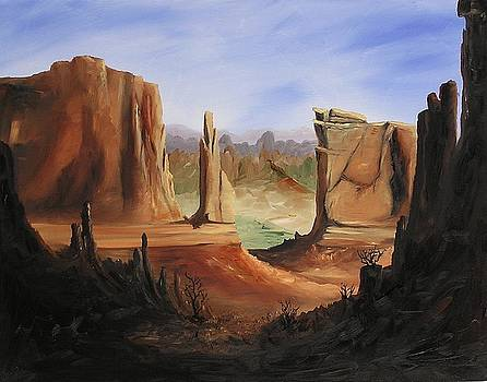 The Wall in Arches Nationial Park by John Johnson