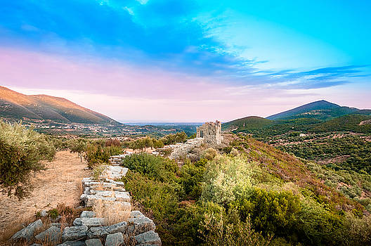 The walls of Ancient Messene - Greece. by Stavros Argyropoulos