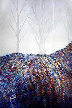 Teshia Art - The Wanderer Triptych Panel 1