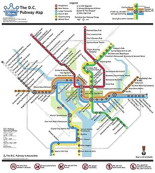 The Washington, D. C. Pubway Map by Unquestionable Taste