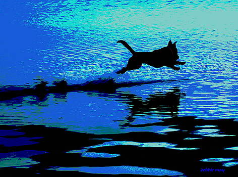 THE WATER DOG - debbie may.fineartamerica.com by Debbie May
