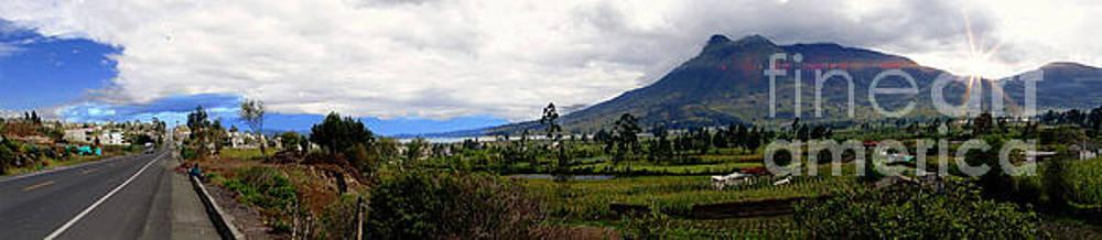 The Way To Otavalo Panorama by Al Bourassa