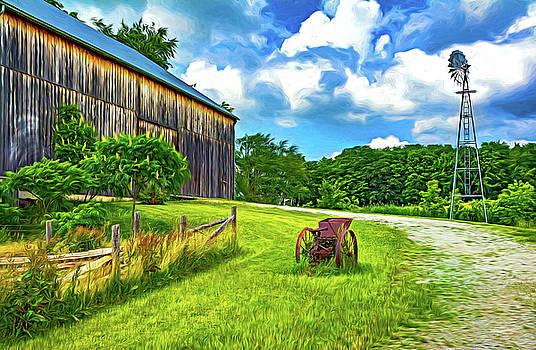 Steve Harrington - The Way We Were - Timber Framed Barn 3 - Paint