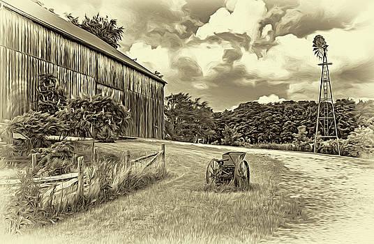 Steve Harrington - The Way We Were - Timber Framed Barn 3 - Sepia