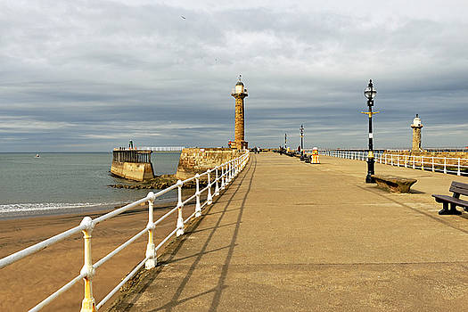 The West Pier and Breakwater - Whitby by Rod Johnson