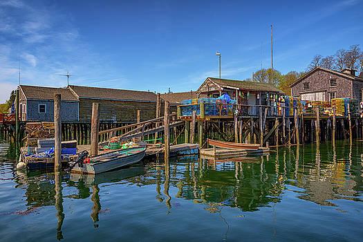 The Wharf in Friendship Harbor by Rick Berk