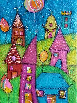 The whimsical village - 2 by Barbara Orenya