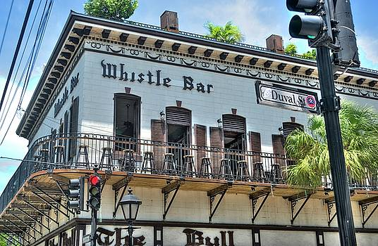 The Whistle Bar on Duval Street - Key West, Florida by Timothy Lowry