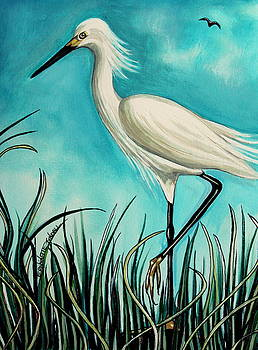 Elizabeth Robinette Tyndall - The White Egret