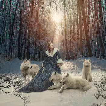 The white wolves by Cindy Grundsten