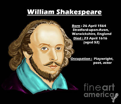 The William Shakespeare by Artist Nandika Dutt