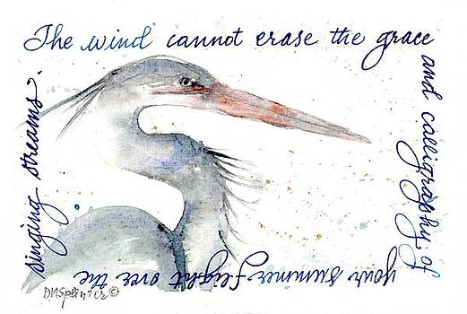 The Wind Cannot Erase Your Flight by Diane Splinter