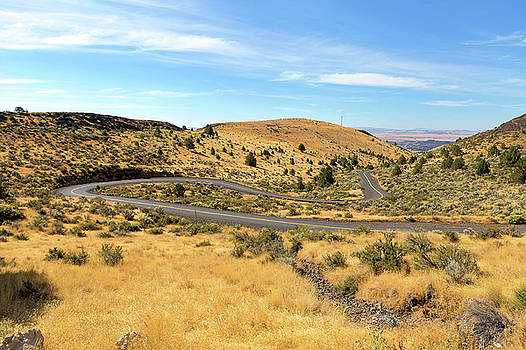 The Winding Road in Central Oregon by David Gn